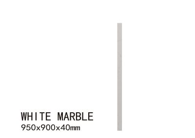 WHITE MARBLE-950X900X40mm 6